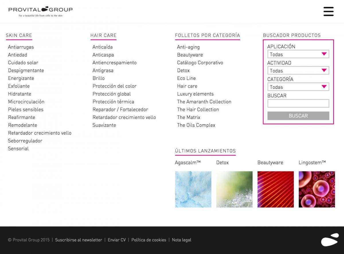 Provital Group screenshot